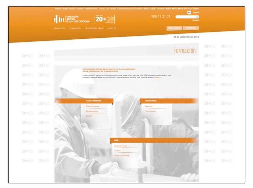 Fundación Laboral de la Construcción (Web) 4