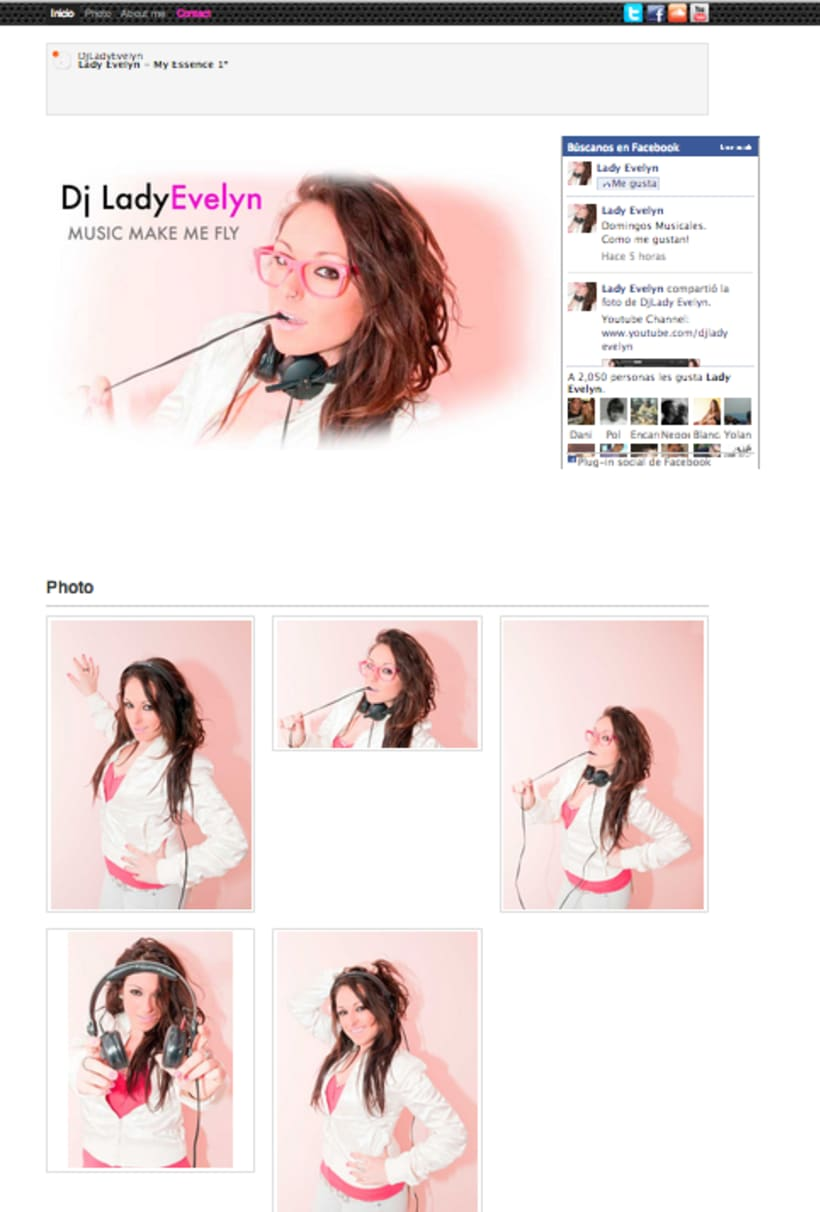 Website personal Dj Lady Evelyn 1