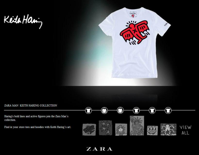 Keith Haring, microsite Flash  3