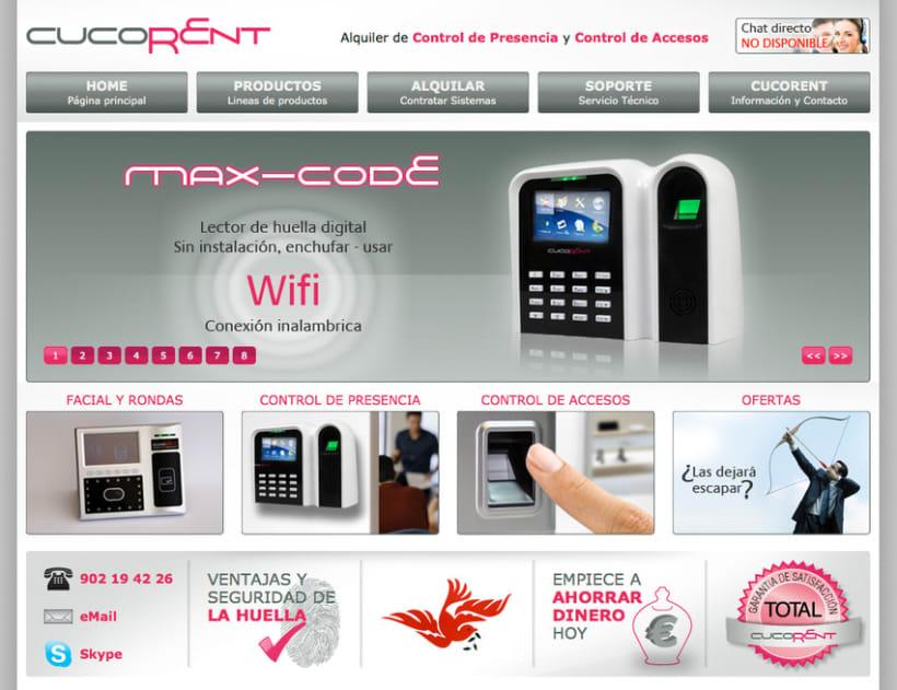Cucorent, sitio web 2