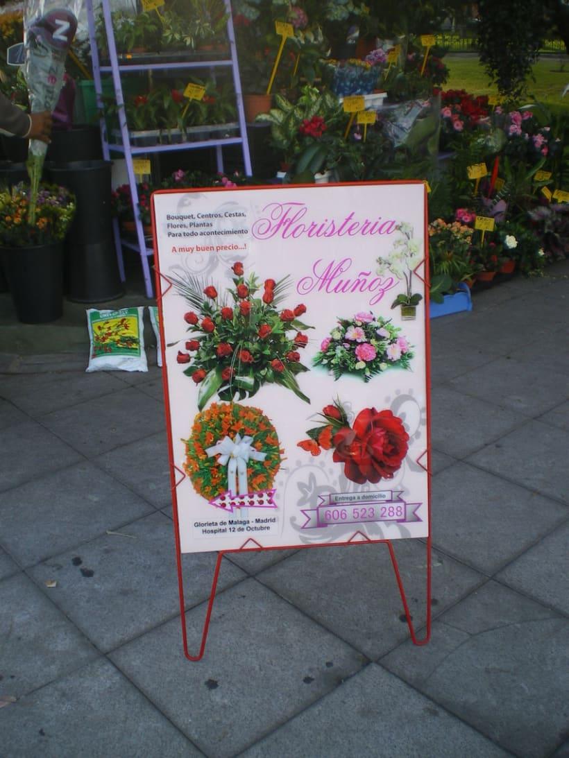 Cartel para la Floristeria Muñoz, Madrid 3