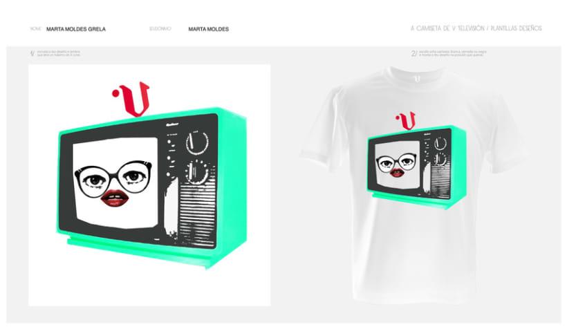 camisetas V televisión 2