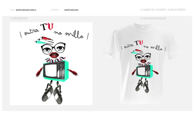 camisetas V televisión 3