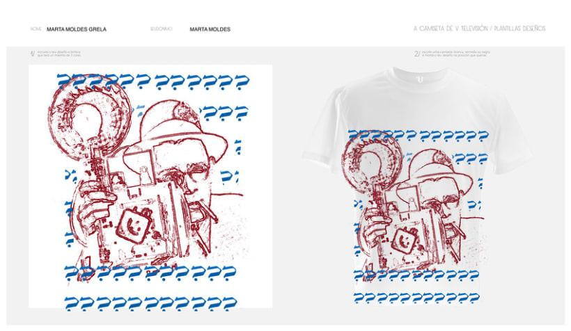 camisetas V televisión 6