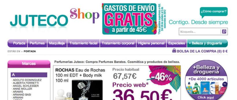 Web de la tienda online de Juteco 1