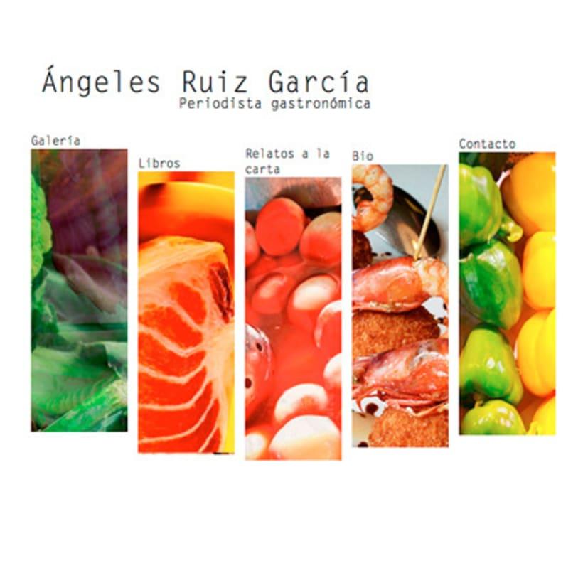 Diseño web Ángeles Ruiz García · Periodista gastronómica 1