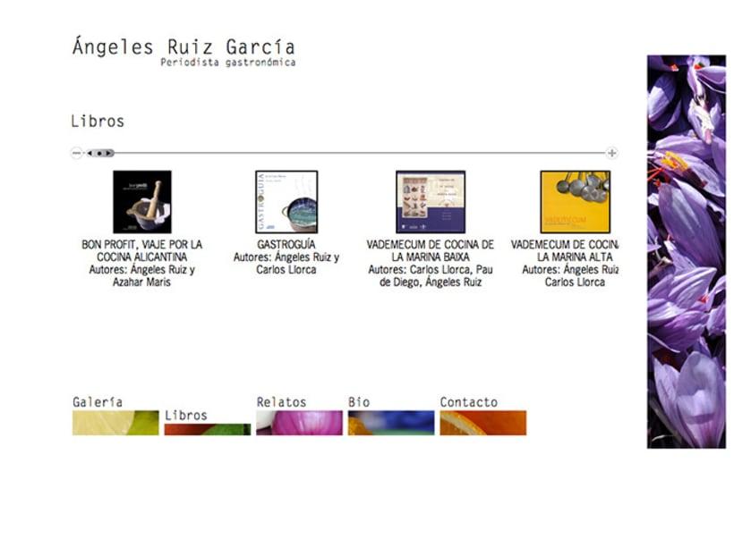 Diseño web Ángeles Ruiz García · Periodista gastronómica 3