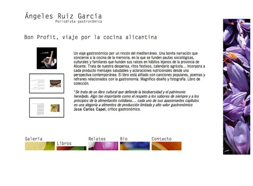 Diseño web Ángeles Ruiz García · Periodista gastronómica 4