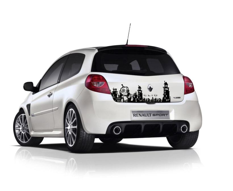 Pegatina para coche domestika for Pegatinas para coches