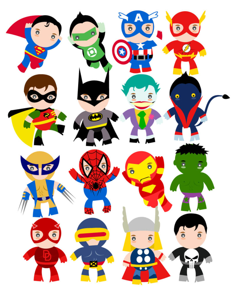 Wallpaper Calendar Superhero : Camiseta superheroes domestika