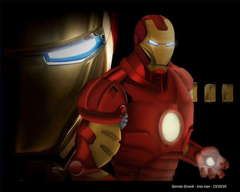 Ilustracion iron man 2