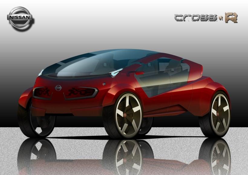 2º Premio Concurso Diseño Autopista - Nissan - U.P.V. 2012 - Nissan Cross-R.  1