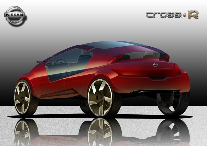 2º Premio Concurso Diseño Autopista - Nissan - U.P.V. 2012 - Nissan Cross-R.  2