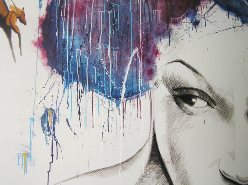 Pintura mural salón actual 5