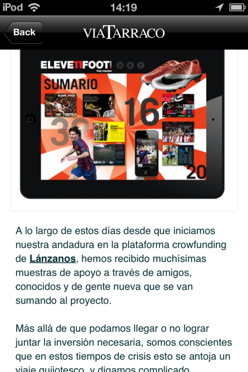 App VIA TARRACO • Magazine digital 19