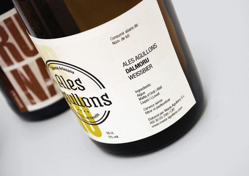 Cervezas artesanas Ales Agullons. Etiquetas de producto.  6