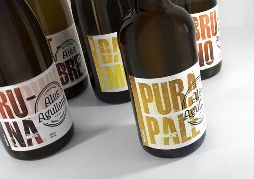 Cervezas artesanas Ales Agullons. Etiquetas de producto.  5
