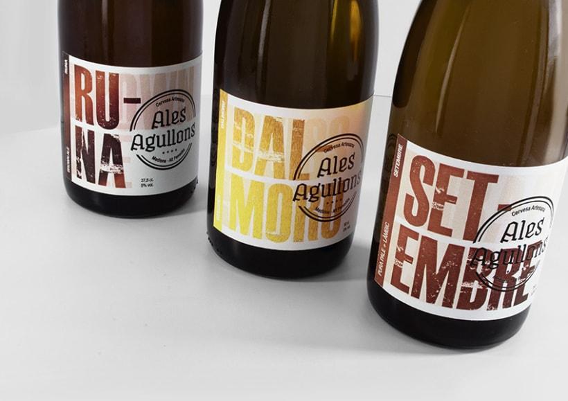 Cervezas artesanas Ales Agullons. Etiquetas de producto.  4