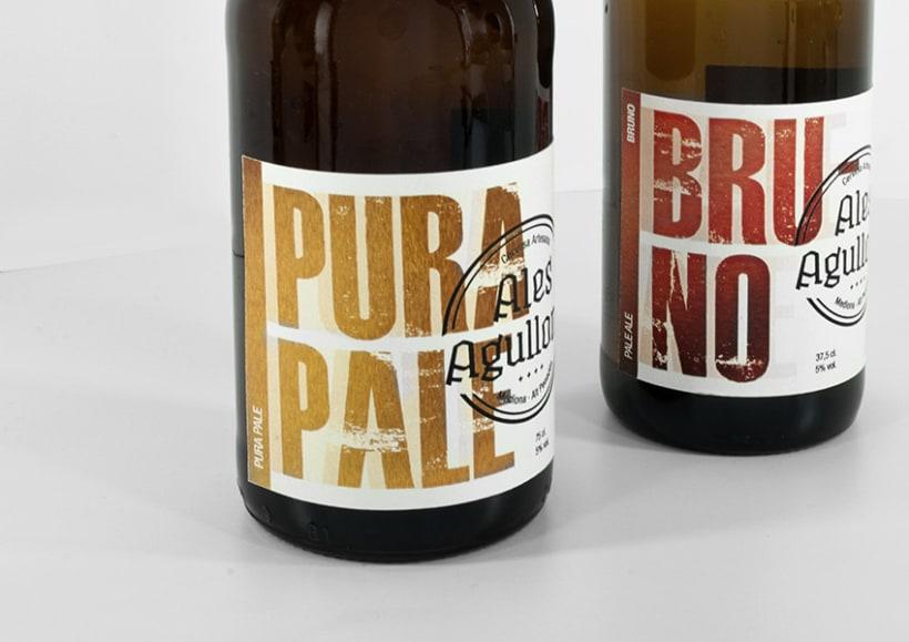 Cervezas artesanas Ales Agullons. Etiquetas de producto.  3
