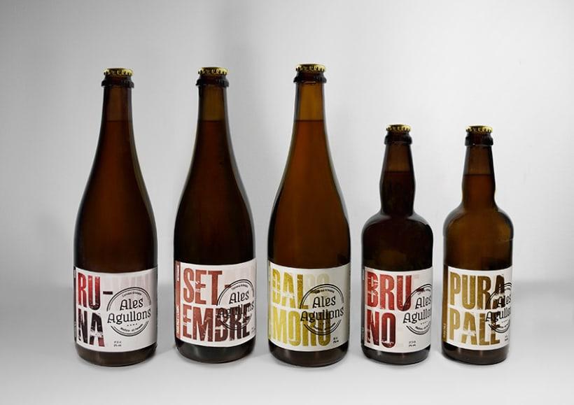 Cervezas artesanas Ales Agullons. Etiquetas de producto.  2