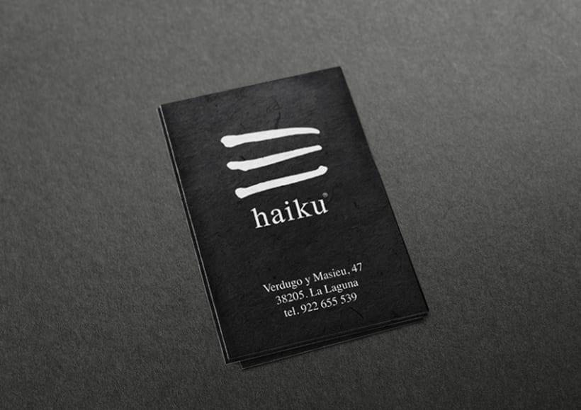 Identidad tienda de regalos Haiku 5