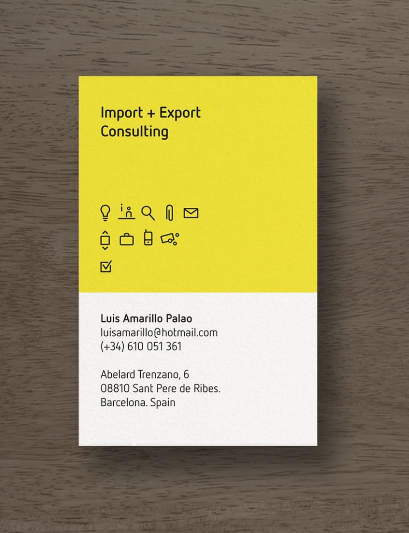 Tarjetas comerciales Luis Amarillo 1