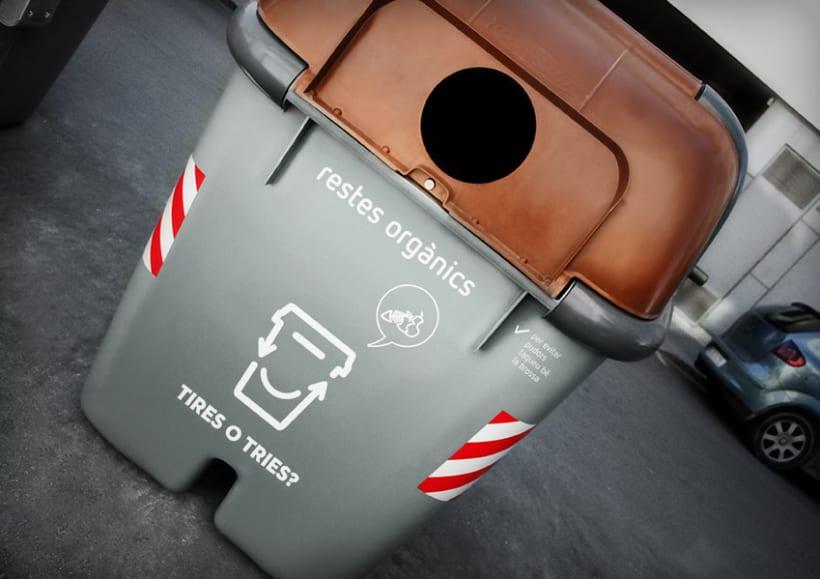 Tires o Tries campaña de reciclatge 5