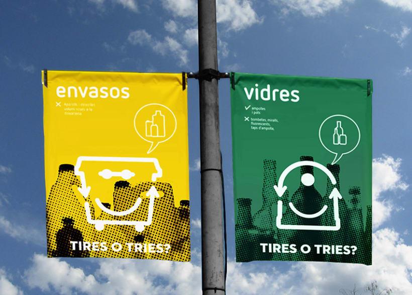 Tires o Tries campaña de reciclatge 4