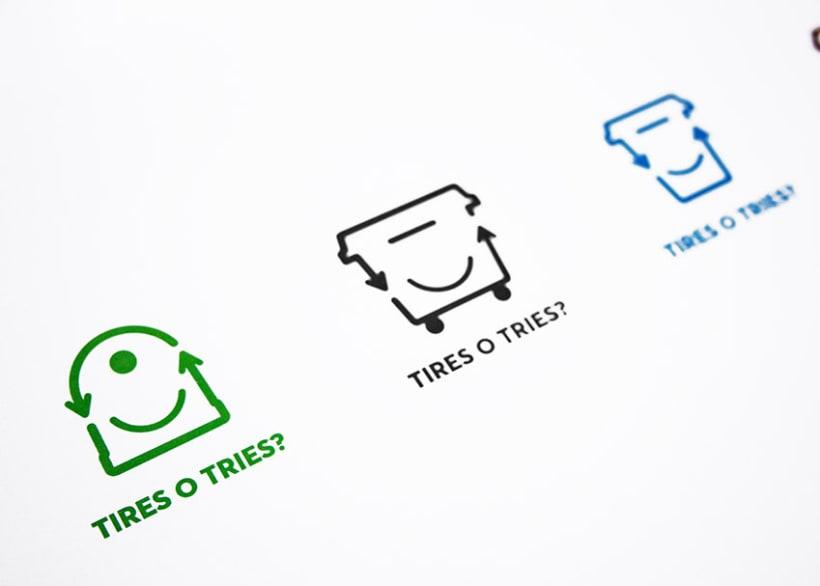 Tires o Tries campaña de reciclatge 2