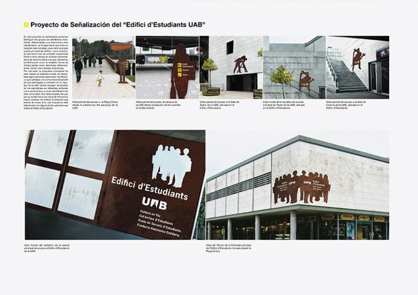 Señalización Edificio de estudiantes de la UAB 3
