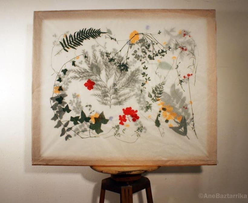 Serigrafía con flores 1