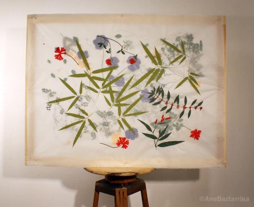 Serigrafía con flores 2