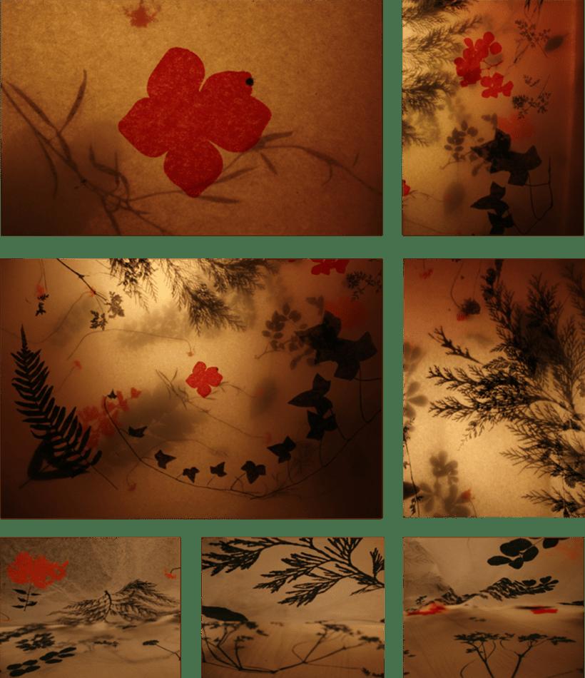 Serigrafía con flores 3