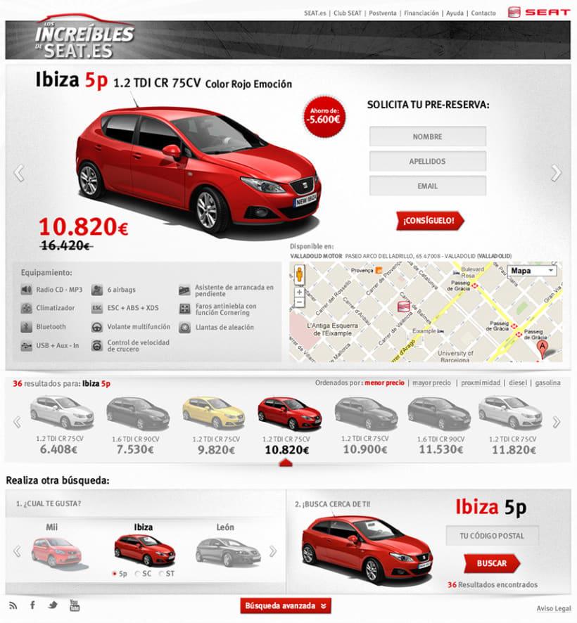 Web Site Los Increibles de SEAT 1