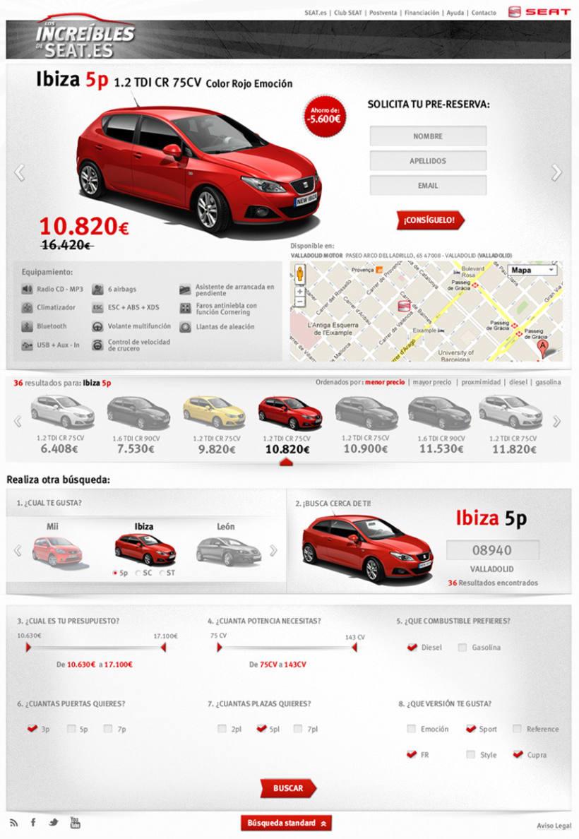 Web Site Los Increibles de SEAT 2