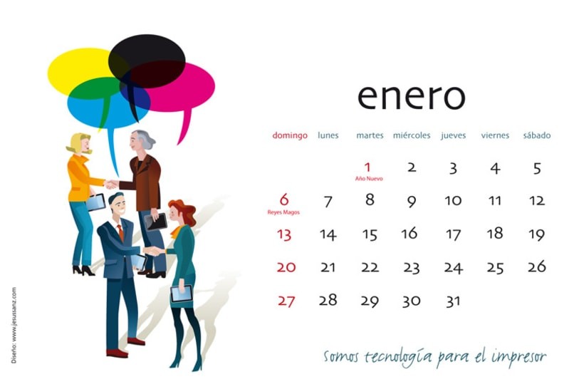 Calendario ABBA Graphics para 2013 2