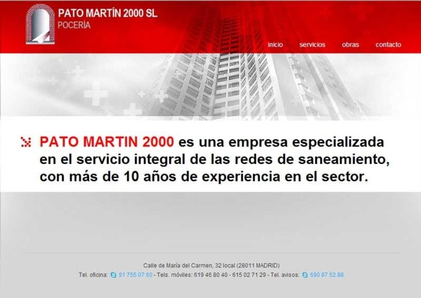 Página web Pato Martín 2000 2