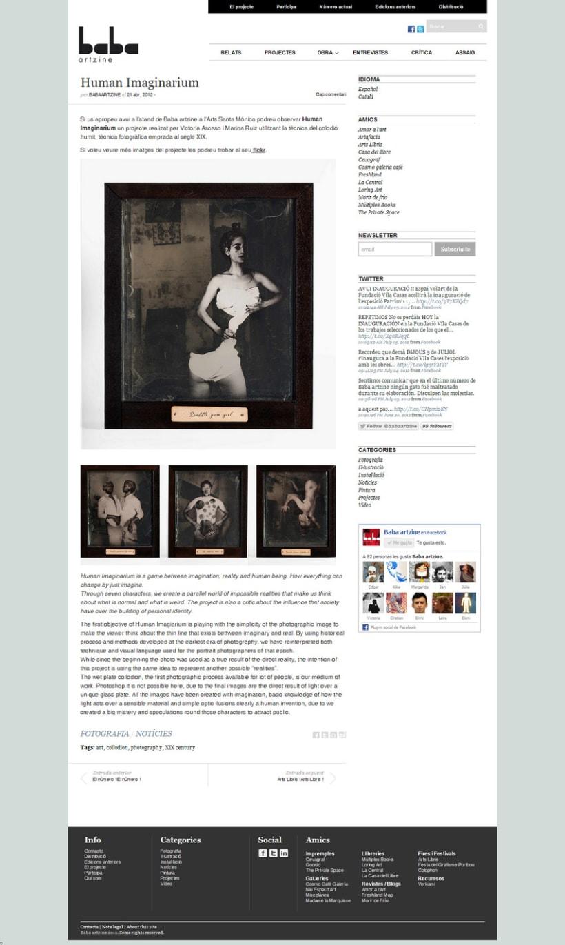 Baba artzine, web-blog para la revista de arte emergente Baba 3