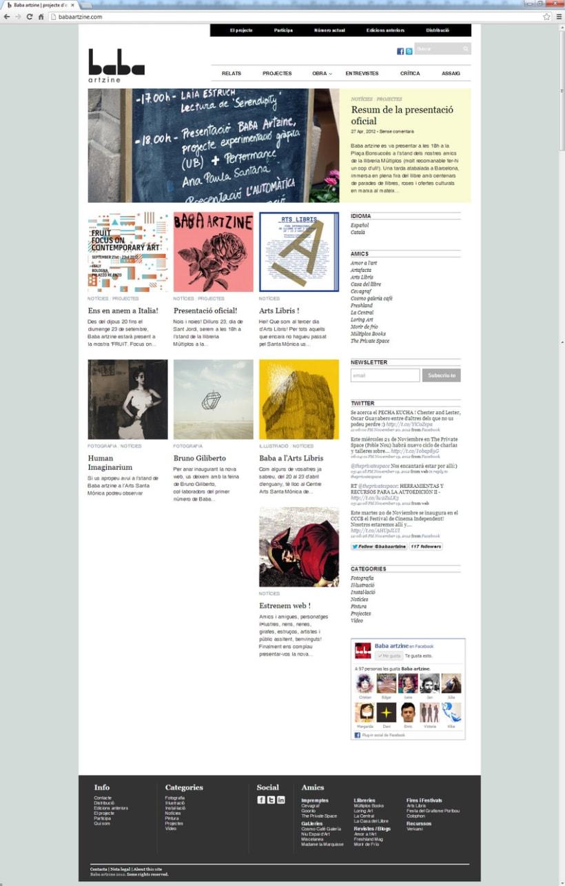 Baba artzine, web-blog para la revista de arte emergente Baba 2