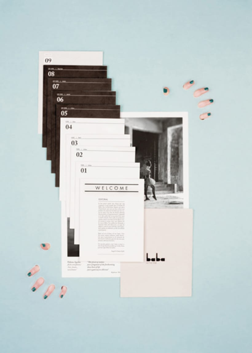 Baba artzine, fotografias de la revista de arte emergente Baba 2