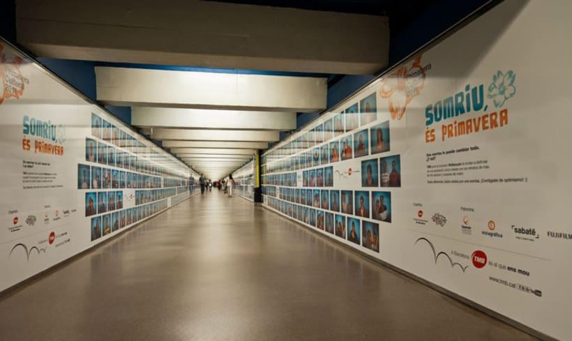 'Somriu, és primavera' Metro de Barcelona 5