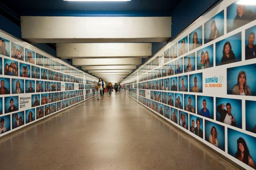 'Somriu, és primavera' Metro de Barcelona 6