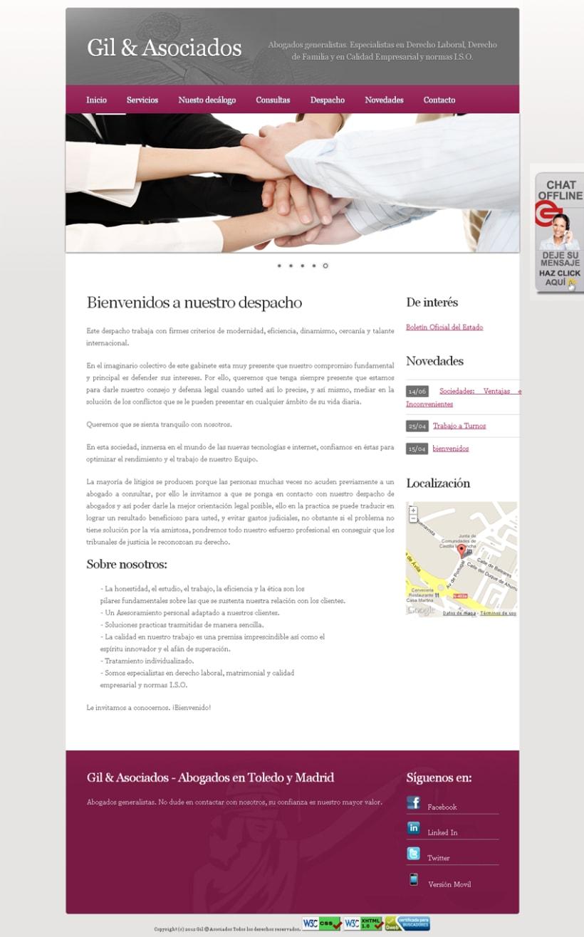 Website Abogados - Gil & Asociados 10