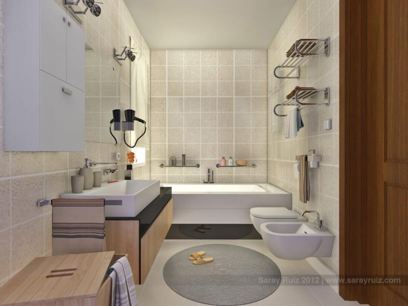Infografía 3D Baño 2