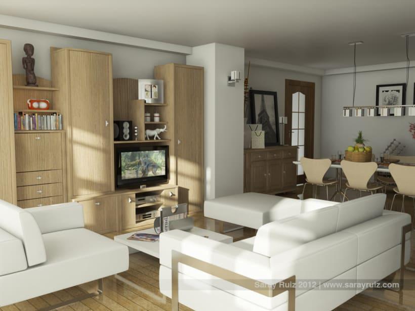 Infografía 3D Salón-Comedor 2