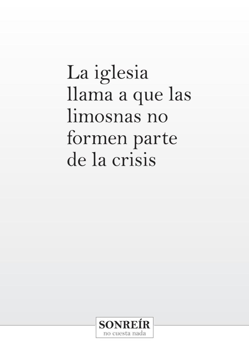 Sonreír no cuesta nada - Campaña contra la crisis 5