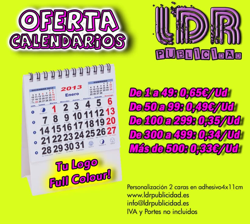 Calendarios 2013 1
