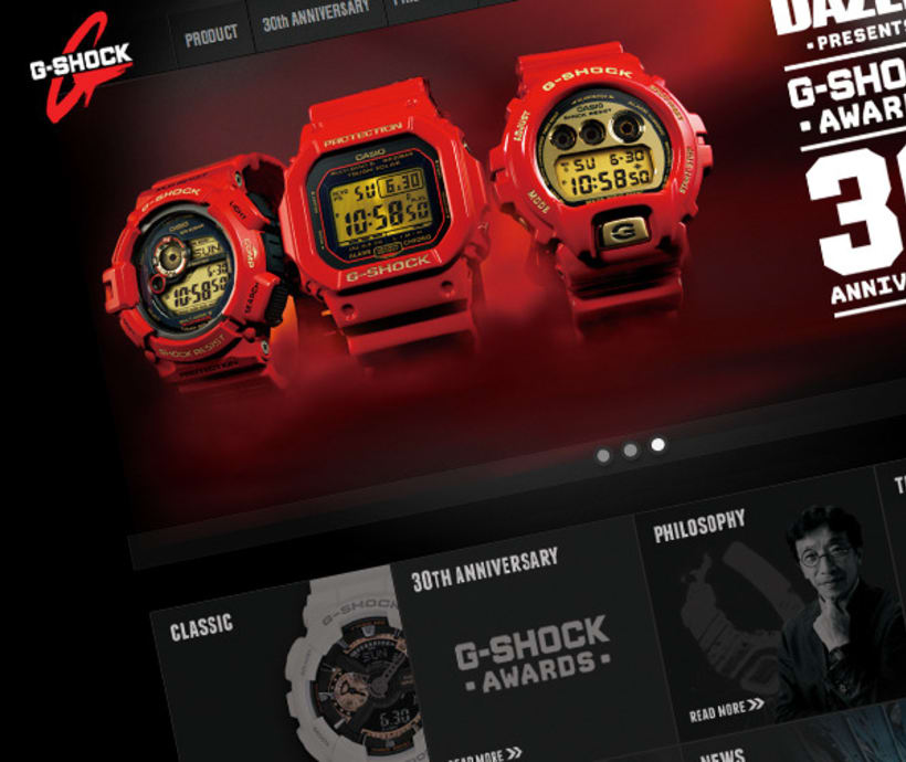 G- Shock Casio Website 1