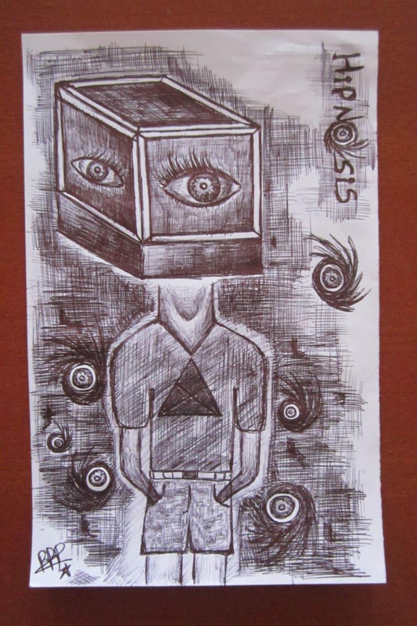 Ilustración en Bolígrafo..  5