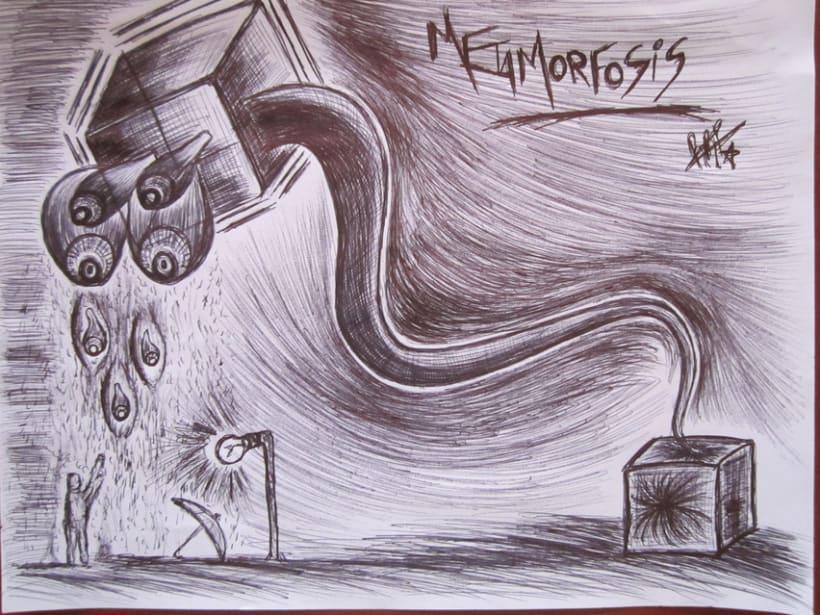 Ilustración en Bolígrafo..  4